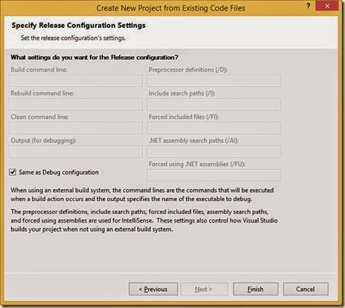 Release Configuration Settings
