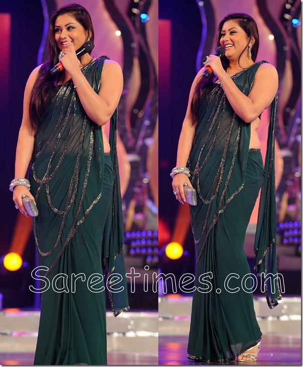 Namitha_Green_Saree