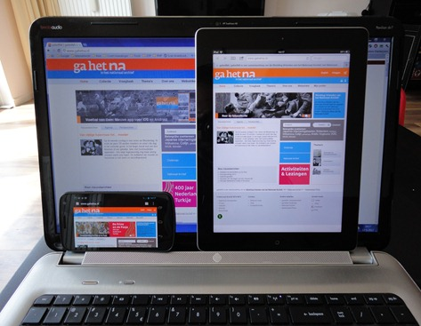 GaHet na op laptop, tablet en smartphone