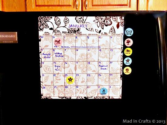 family calendar magnets