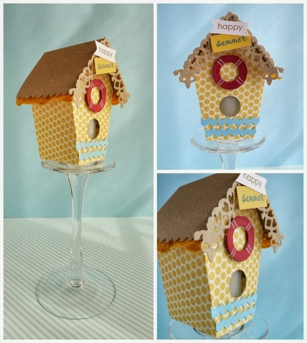 cafe creativo - sizzix big shot - birdhouse - holidays - summer