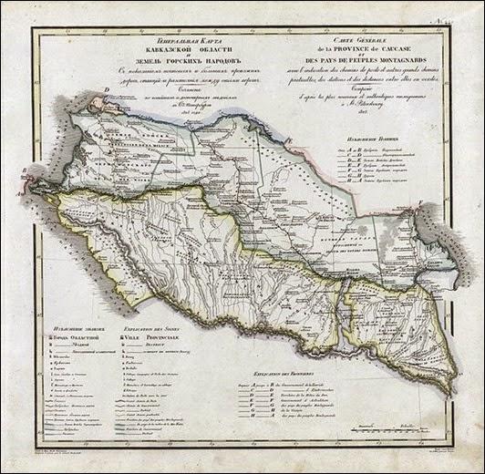 614px-Карта_Кавказской_области_и_Земли_Горских_Народов_(1821)