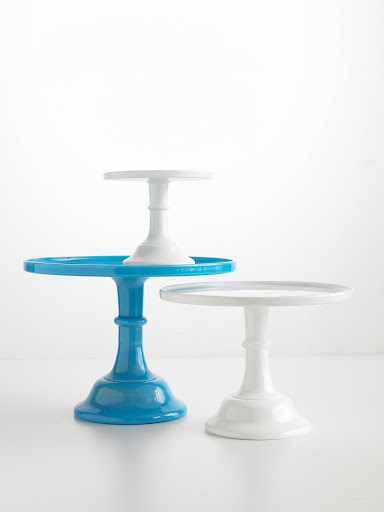 Now you can find dessert stands made from different types of material -- have a plastic dessert stand may be appropriate for a child's birthday party.
