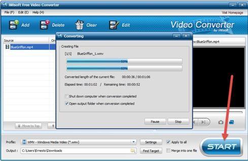 estrarre-filmati-iwisoft-free-video-converter