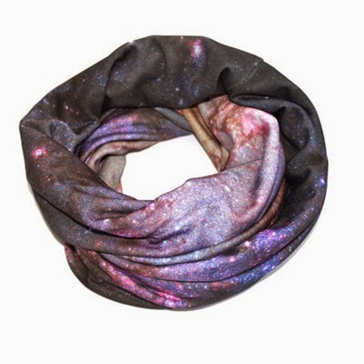 Milky Way Spiral Galaxy Circle Scarf from Shadow Play NYC