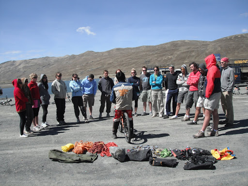 The initial briefing at La Cumbre Pass.