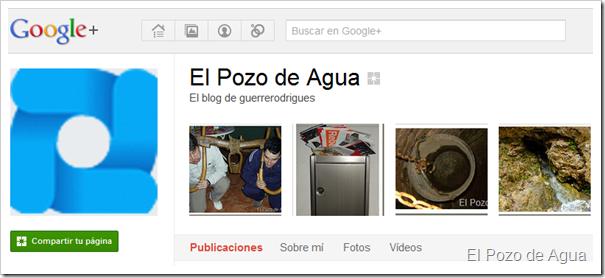 El Pozo de Agua en Google+