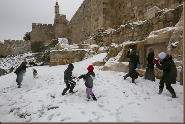 מזג אוויר סוער שלג ירושלים  אוליבייה פיטוסי
