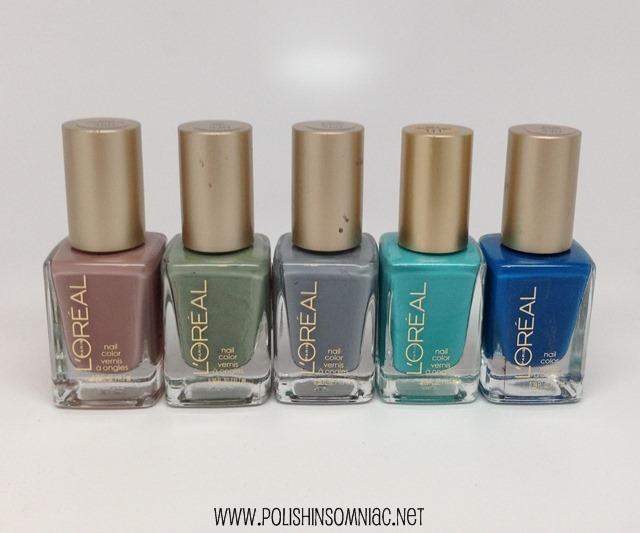 L'Oreal nail polishes
