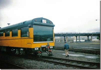 004-5 C&NW Inspection Car #420 Fox River at Portland Union Station in September 1995