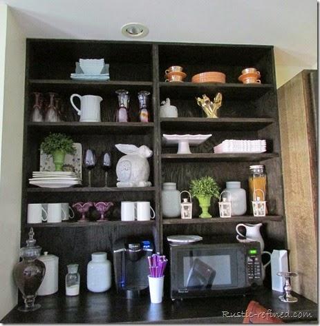 Kitchen Storage using stock cabinets