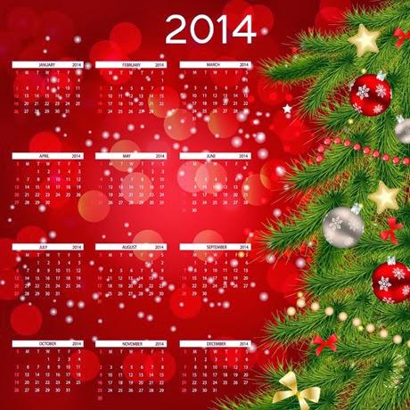2014-Calendare pentru anul 2014