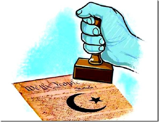 Sharia Stamp on US Constitution