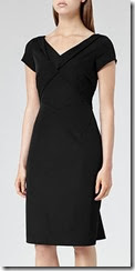 Reiss Fold Neck Tailored Dress