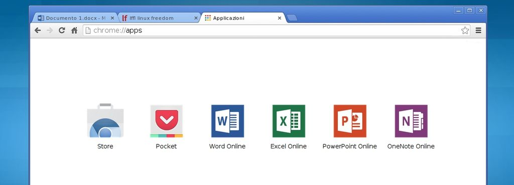 Microsoft  Office online en la  Chrome web store
