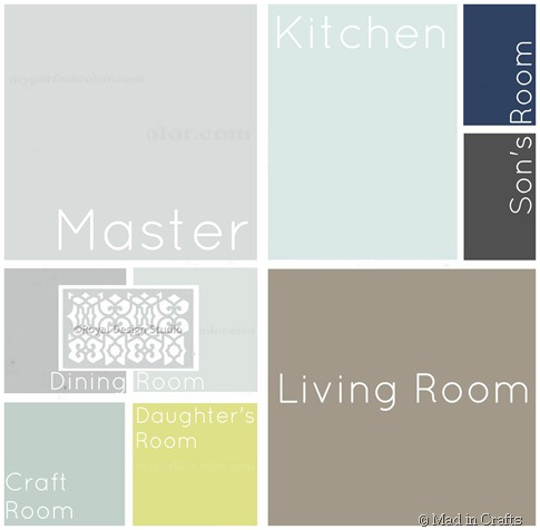 Whole house palette and a painting tips round up mad in - Whole house interior paint palette ...