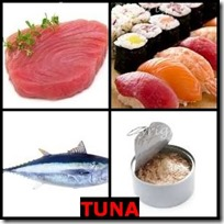 TUNA- 4 Pics 1 Word Answers 3 Letters