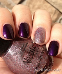 Nicole by OPI Here We Kome A-Karoling with All is Glam, All is Bright 4