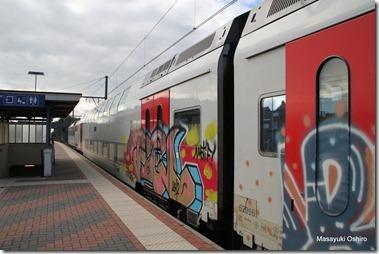 ベルギーの2階建て電車