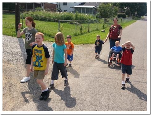 Walk with kids 8.19.13