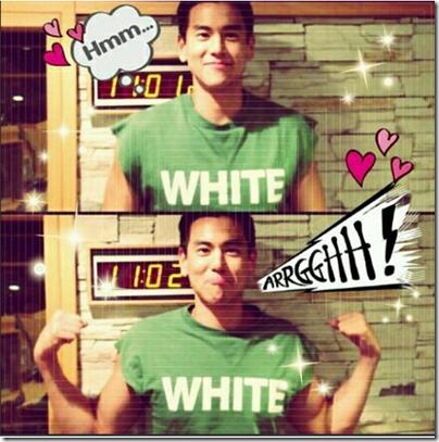 Eddie Peng - Green White Tee