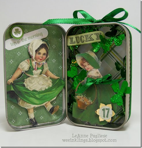LeAnne Pugliese WeeInklings St Patricks Altered Altoids Box Vintage