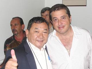 Dr. Sato com o deputado estadual Jorge Caruso