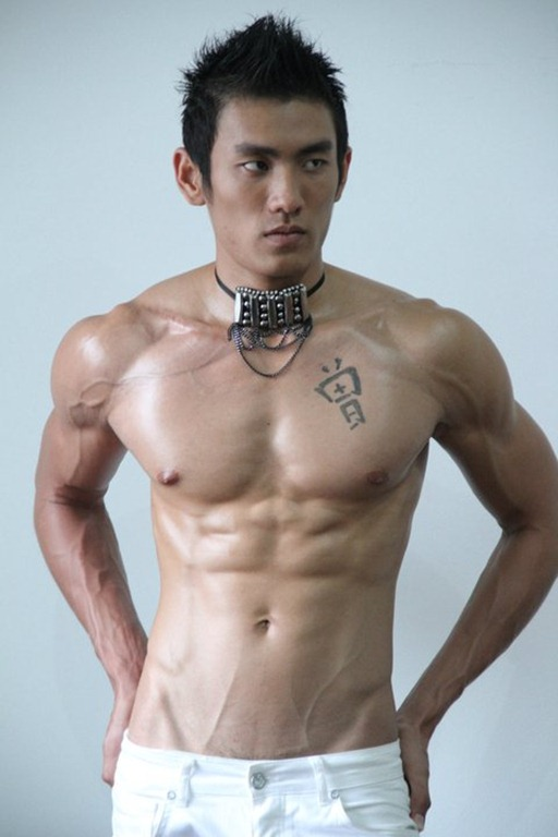 Asianmales-Little Shirtless Sexy with Unknown Male Model-25