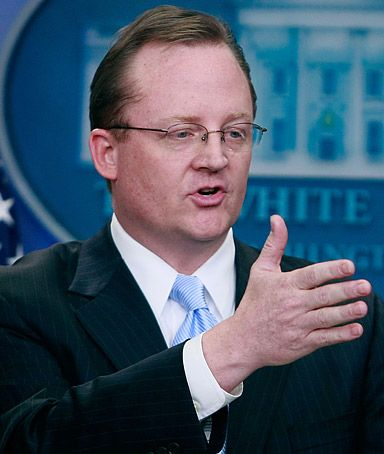 Robert Gibbs is taking dance classes.  AIG is causing the White House Press sec. to sweat a little.