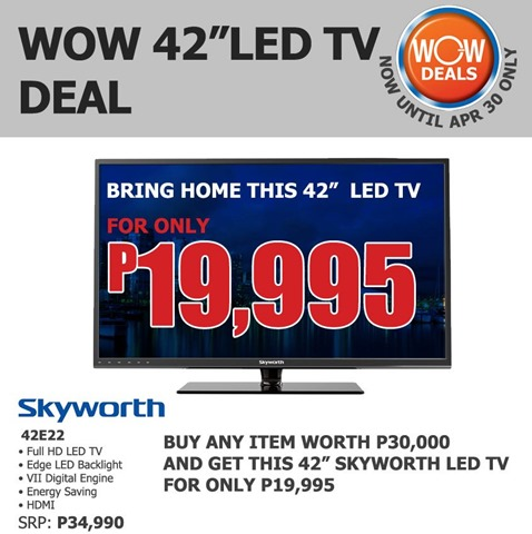 SM Appliance Promo Skyworth 42