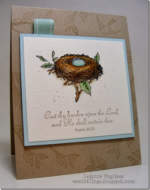 LeAnne Pugliese WeeInklings Crafty Secrets Bird's Nest Sympathy Card