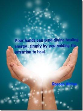 hands can send healing