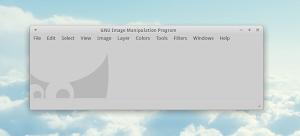 Gimp in lingua inglese in Xubuntu