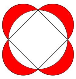 lunule su quadrato