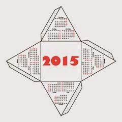 развертка 3d календаря 2015
