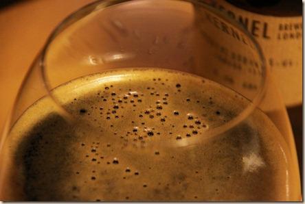 The Kernel brown imp stout foamy glass 3