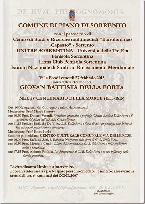 Manifesto Giornata per Giovan Battista Della Porta