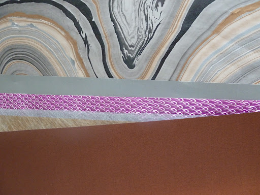 A selection of metallic papers.
