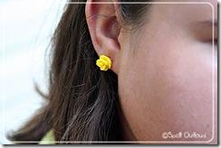 yellowflowerearring