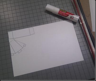 Glued to Plasticard