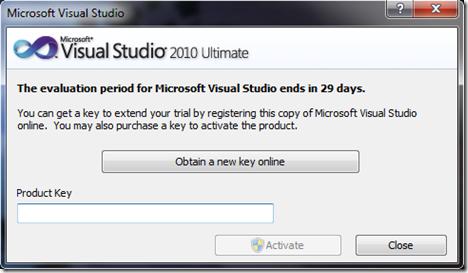 Cara Aktivasi Visual Studio 2010.10