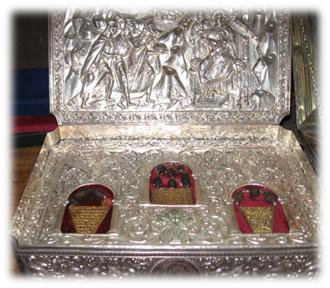 Arqueta con los regalos de los Reyes Magos, Monasterio del Monte Athos (Grecia)