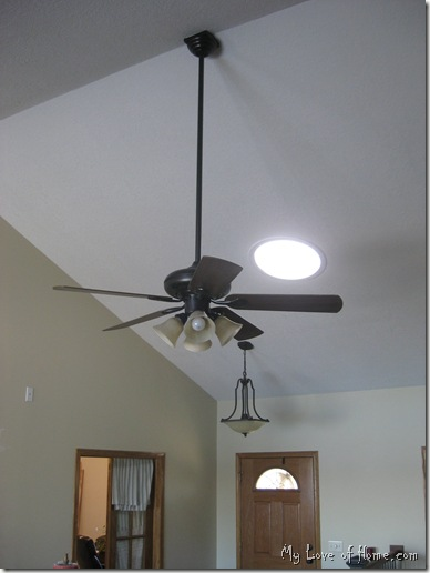 Spray painted ceiling fan