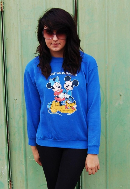 Vintage Mickey and Minnie Sweatshirt, £20, Gabriella Vintage