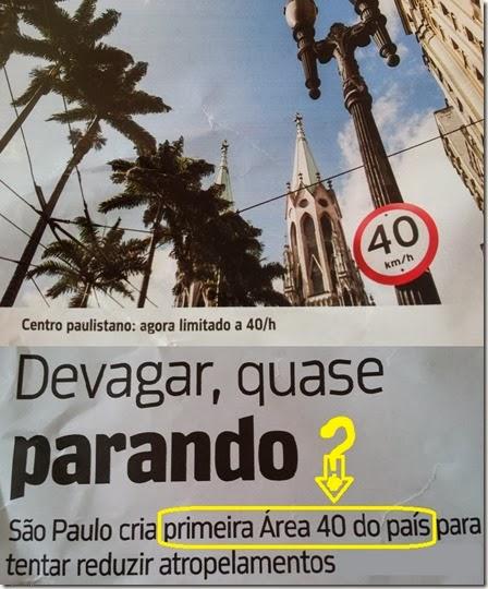 Sao Paulo a 40 km hora