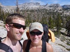 Hiking the John Muir Trail in Yosemite.