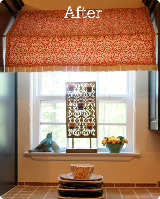 Kitchen Curtains Tension Rod: Indoor Awning Tutorial + A Giveaway Winner