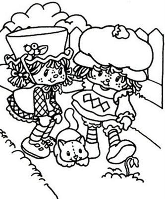 Desenho da Moranguinho para colorir2