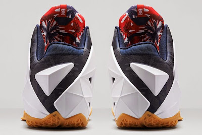 nike lebron 11 gr black white red mango 3 06 independence day Release Reminder: Nike LeBron XI to Rock on July 4th