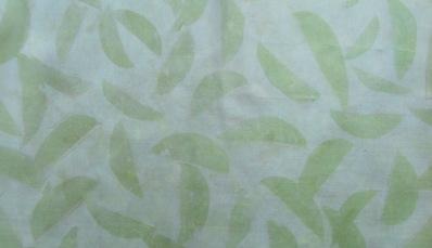 ECO PRINT Birnenblätter auf Seide